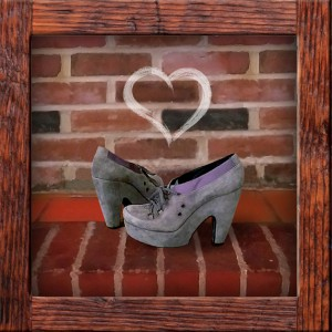 grey wedge platform shoes