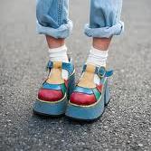 Tokyo blue platform shoes