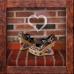 Inked Shoes, embroidered platform shoes