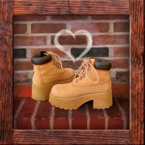 ebay hiking platform boots