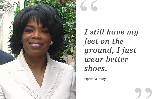 Oprah Winfrey Quote About Shoes