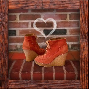 ASOS orange wedges