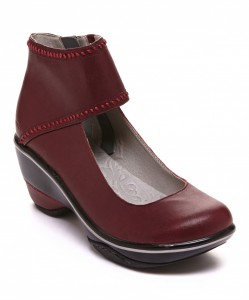 Zulily Deep Red Roxbury Leather Mary Jane