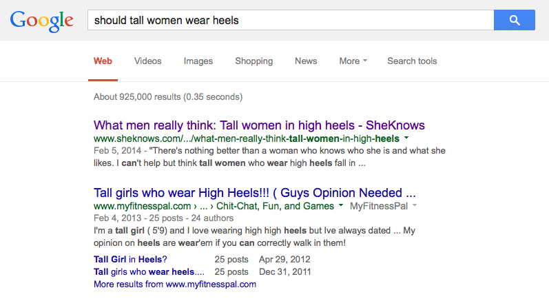 google search tall women