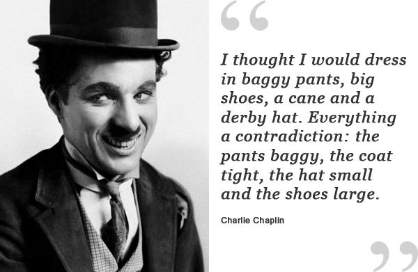charlie chaplin shoe quote