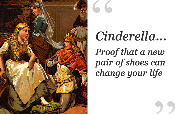 cinderella shoe quote