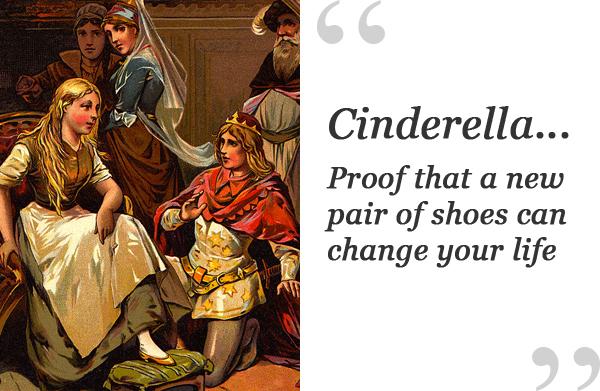 cinderella shoe quote