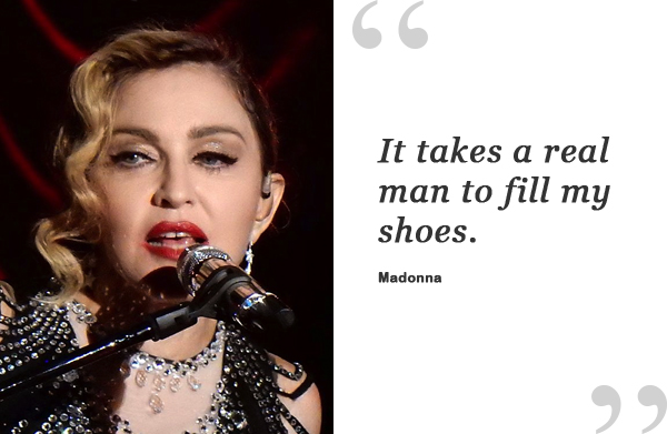 madonna shoe quote