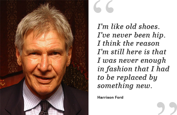 harrison ford shoe quote